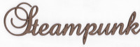 Steampunk - Fancy Chipboard Word