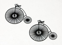 Old Time Tricycle Silhouette - Card Sized (2 Pack)