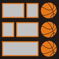 Basketballs - 12x12 Overlay