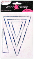 Nestabling Pennants Royal Blue Rhinestones