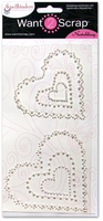 Nestabling Scalloped Hearts White Pearl