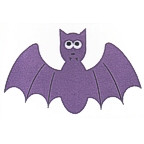 "Large purple bat with ""google eyes"" - 3 colors!"
