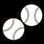 Baseball ball - smaller pair