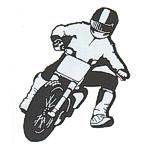BMX Motocross Dirt Bike rider in black/chrome!