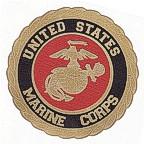 United States Marine Corps Logo - laser etched gold!