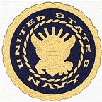 United States Navy Logo - etched gold!