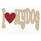 I Heart My Dog - 2 Color with Red Heart