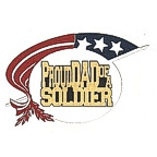 Proud DAD of a Soldier - 5 Color with Gold!