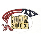 Proud MOM of a Soldier - 5 Color with Gold!