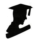 Graduate Bust Silhouette - Man