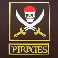 Pirate with Skull and Crossblades with Gold!