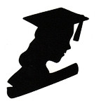 Graduate Bust Silhouette - Woman