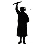 Graduate with diploma - Woman