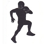 Football Player Sillouette - Laser detailed