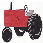 Red Tractor - 3 Color Design!