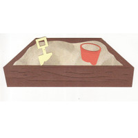 Sandbox with authentic looking sand paper!