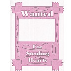 Wanted for Stealing Hearts - Soft pink extra large design