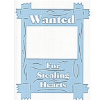 Wanted for Stealing Hearts - Baby Blue extra large design