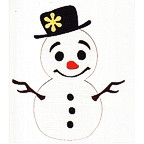 Snowman - With Flower on hat - CUTE!