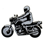 Motorcycle with Rider