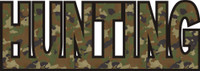 Hunting Title Strip in Camo Color Scheme