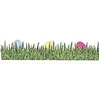 Easter Eggs in Grass Title Strip - GLITTER!