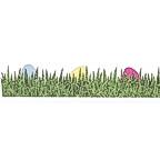 Easter Eggs in Grass Title Strip - GLITTER!