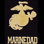 Marine DAD 2 Piece Laser Design with Laser Etched GOLD!