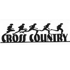 "Cross Country Title Strip - 11"" x 3"" - Black Sillouette"