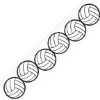 Volleyball Vertical Title Strip