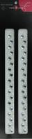 Beautiful Bling Strips - White Pearl/Silver Rhinestones - Pair