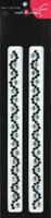 Beautiful Bling Strips - Black Wave Rhinestones/Silver Pair