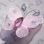 "Butterfly - 1"" Light Pink"
