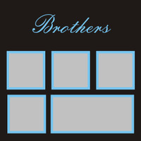 Brothers - 12x12 Overlay