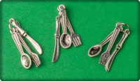 Silverware Charm - Antique Silver