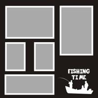 Fishing Time - 12x12 Overlay