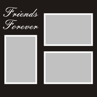 Friends Forever - 12x12 Overlay