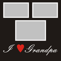 I Heart Grandpa - 12x12 Overlay
