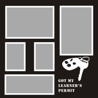 Got my Learners Permit - 12x12 Overlay