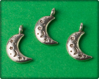 Moon Charm - Antique Silver