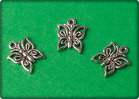 Butterfly Charm - Antique Silver