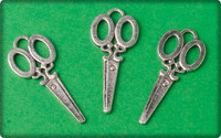 Scissors Charm - Antique Silver