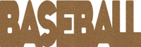 "Baseball -  Chipboard Word - 2 1/2"" x 7 1/2"""