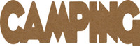 "Camping  -  Chipboard Word - 2 1/2"" x 7 1/2"""