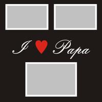 I Heart Papa - 12x12 Overlay