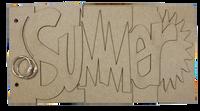 Summer chipboard album