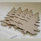 Pine Tree Chipboard Embellishments - Pack of 4