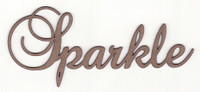 Sparkle - Fancy Chipboard Word