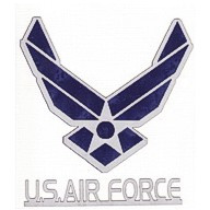 Air Force Logo - Mirror Blue and Silver Gray!