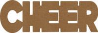 "Cheer - Chipboard Word - 2 1/2"" x 7 1/2"""
